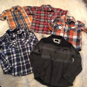 Bundle of boys plaid shirts